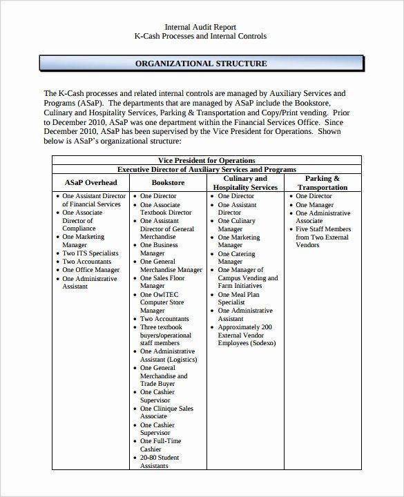 Audit Report Template Excel Unique 18 Internal Audit Report Templates Pdf Google Docs