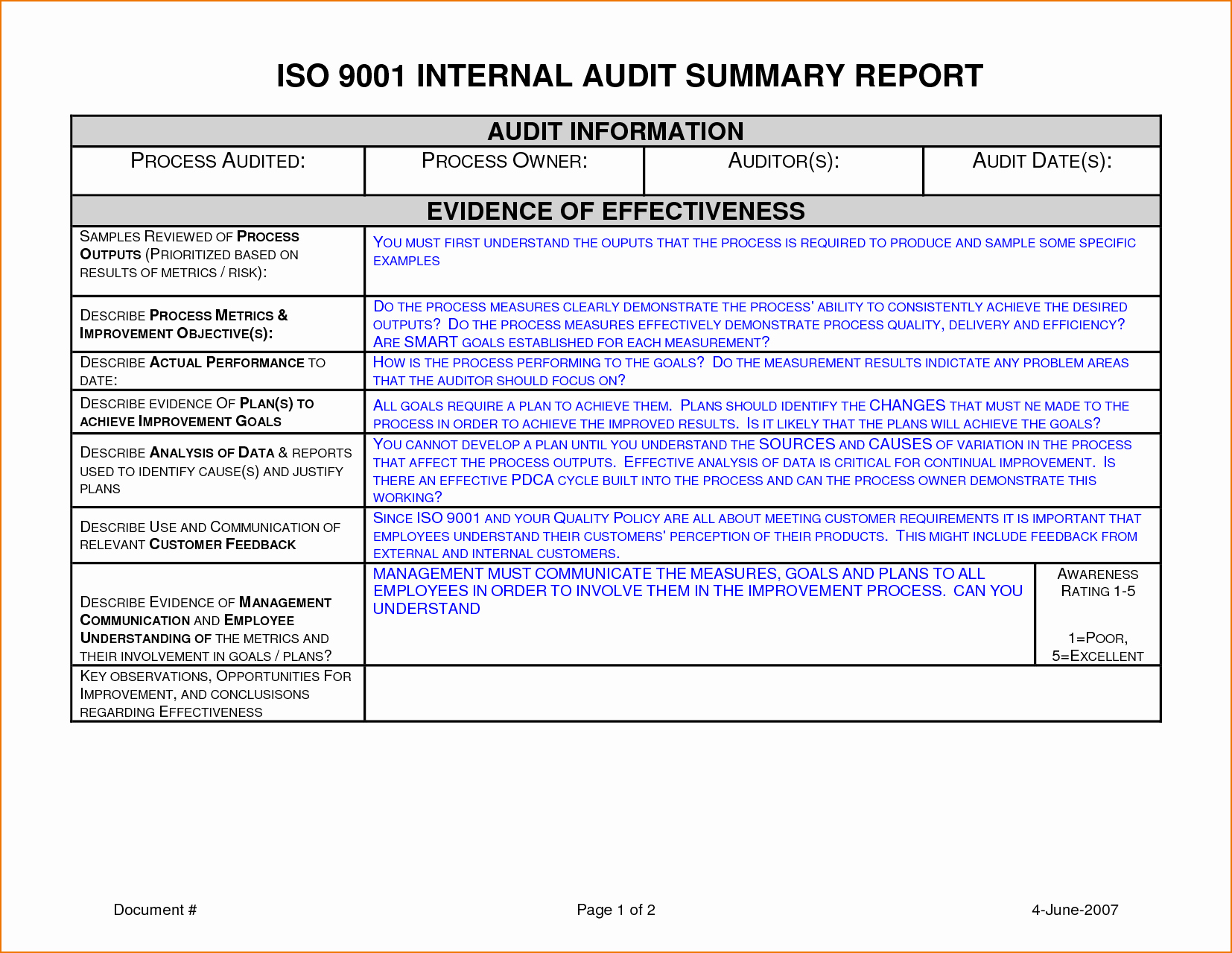 Audit Report Template Excel Unique 6 Audit Report Template