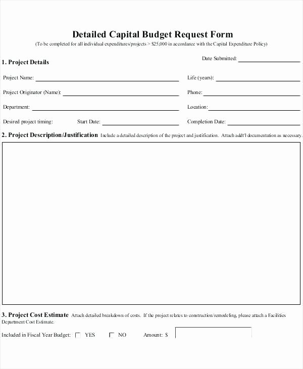 Authorization for Expenditure Template Fresh Purchase Request form Template Excel Best Requisition