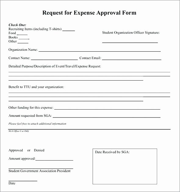 Authorization for Expenditure Template Lovely Authorization for Expenditure Template Free – Brrand