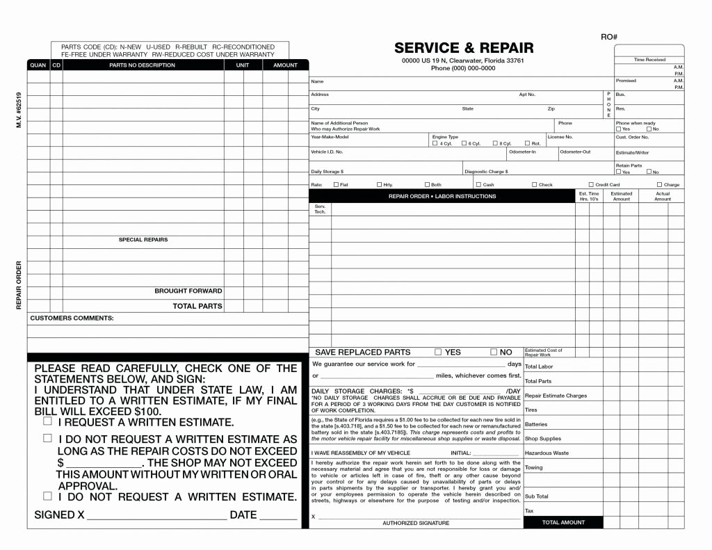 Auto Body Estimate Template Awesome Auto Body Shop Invoice Template Sample Worksheets
