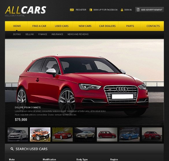 Auto Dealer Website Template Awesome 28 Car Dealer Website themes & Templates