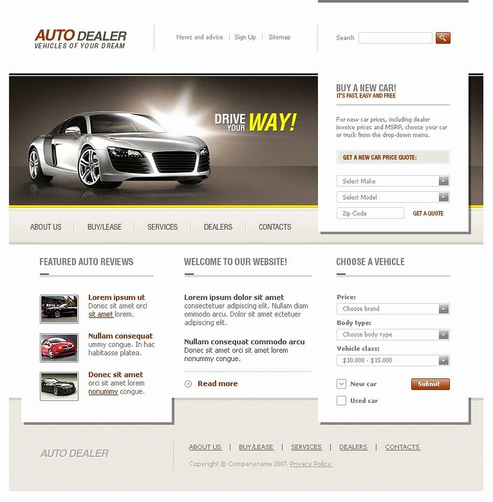 Auto Dealer Website Template Awesome Car Dealer Website Template Web Design Templates