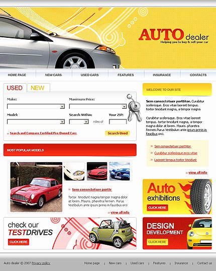 Auto Dealer Website Template Beautiful Car Dealer Templates