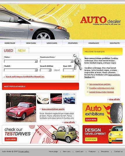 Auto Dealer Website Template Beautiful Car Dealer Templates