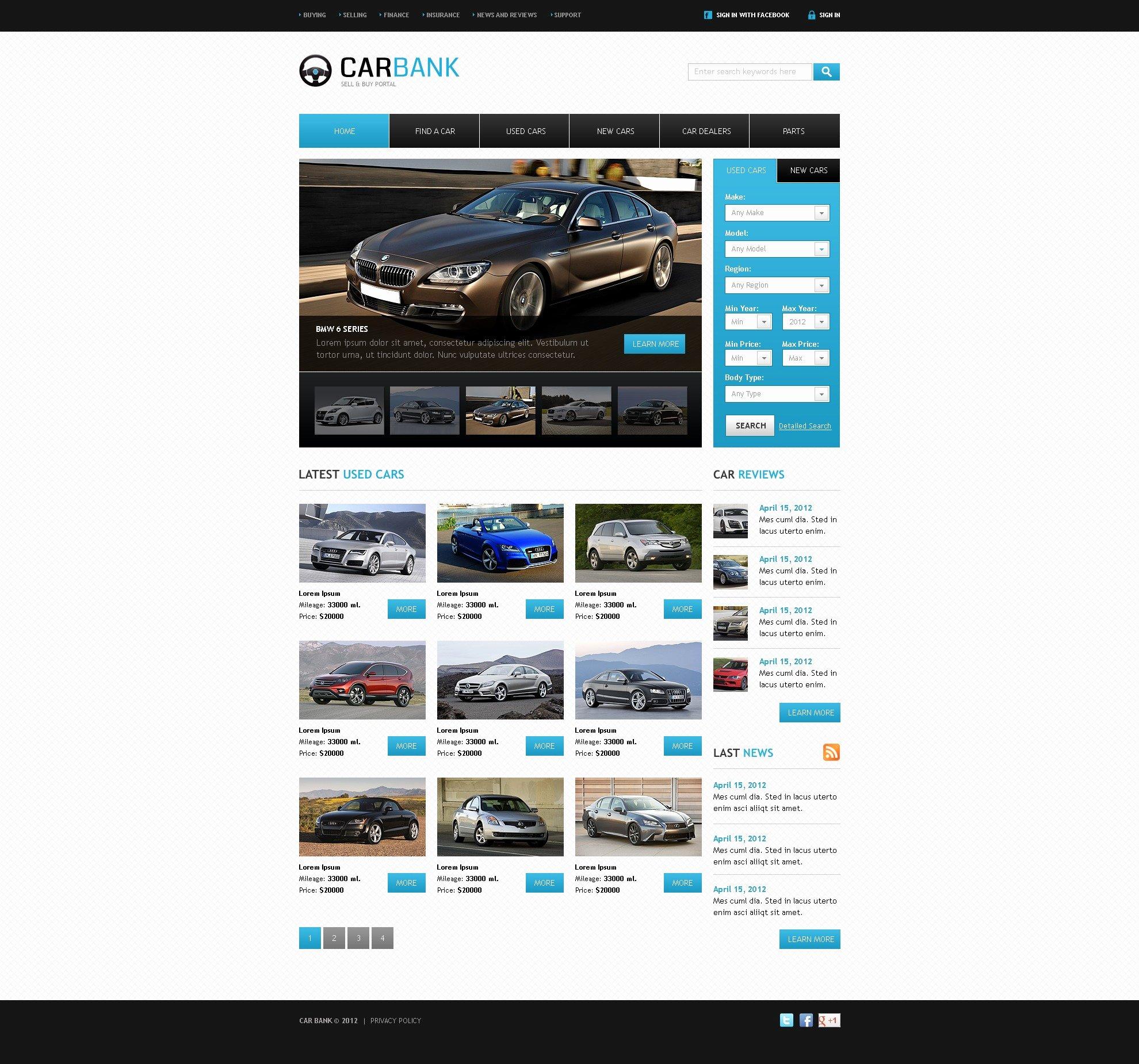 Auto Dealer Website Template Beautiful Car Dealer Website Template