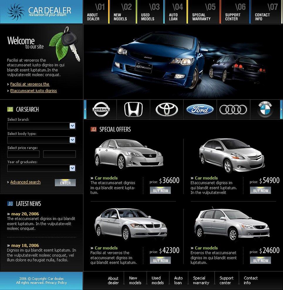 Auto Dealer Website Template Beautiful Car Dealer Website Template Web Design Templates