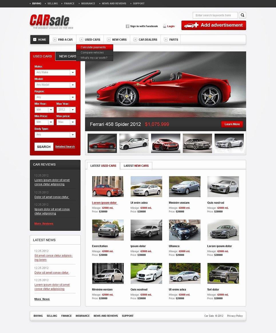 Auto Dealer Website Template Best Of Car Dealer HTML Cms Template