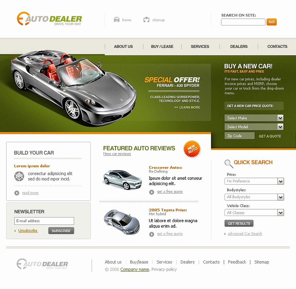 Auto Dealer Website Template Best Of Car Dealer Website Template