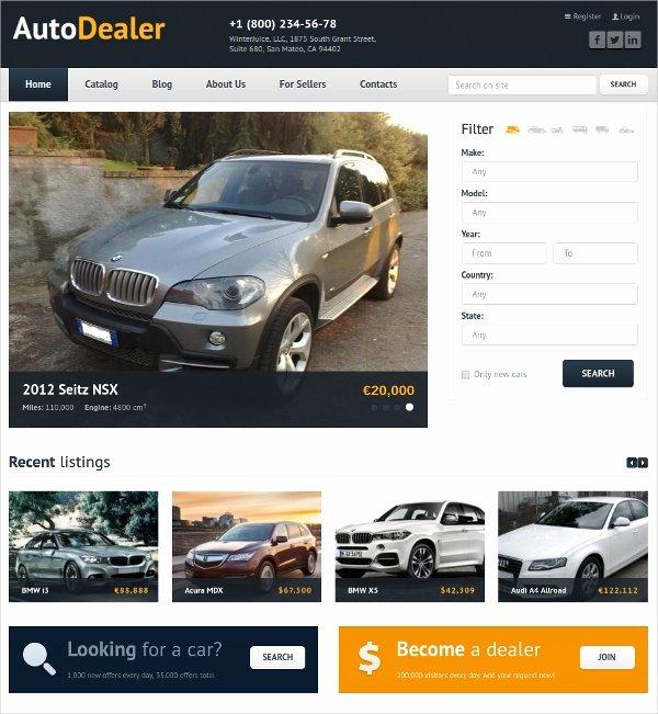 Auto Dealer Website Template Elegant 17 Automobile Website themes & Templates