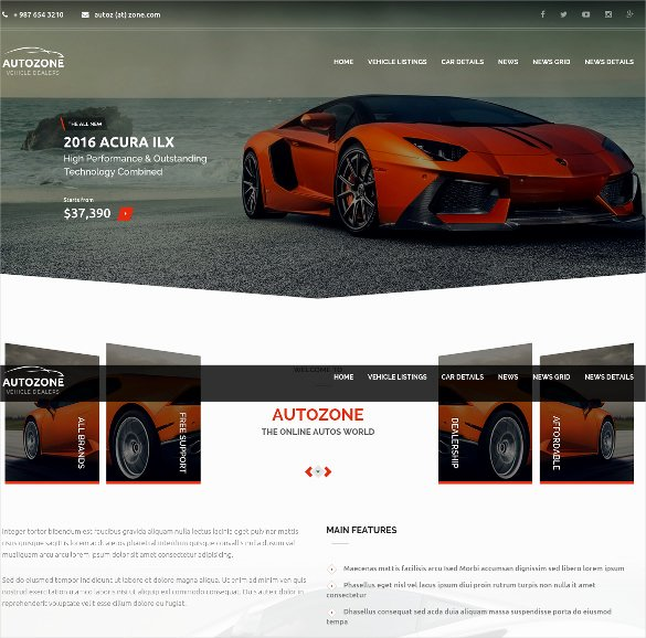 Auto Dealer Website Template Elegant 28 Car Dealer Website themes & Templates