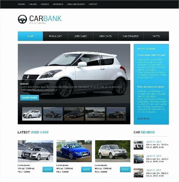 Auto Dealer Website Template Elegant Car Dealer Website themes Templates Free Premium for