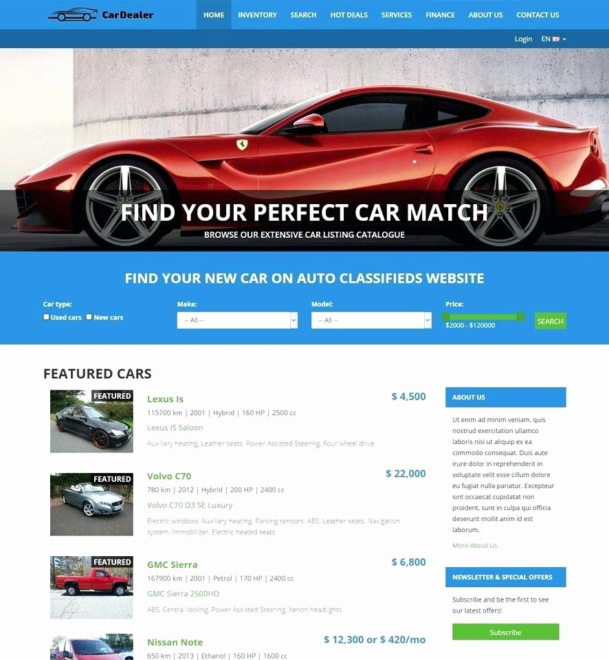 Auto Dealer Website Template Elegant Template Auto Dealer Template Car Clean and Converting