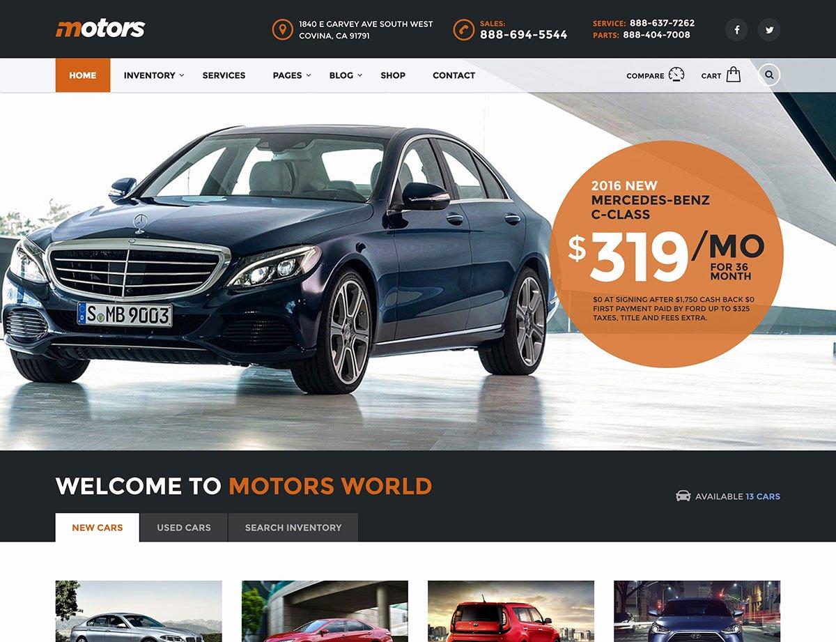 Auto Dealer Website Template Inspirational 15 Best Car Dealer Wordpress themes 2019 athemes