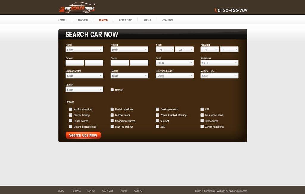 Auto Dealer Website Template Inspirational Car Dealer Website Template