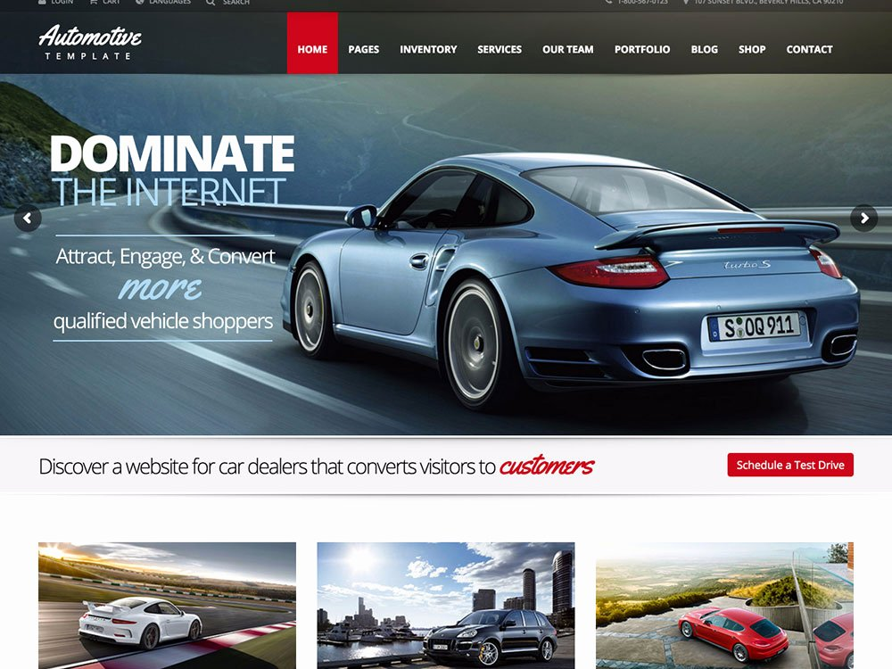 Auto Dealer Website Template Lovely 15 Best Car Dealer Wordpress themes 2016 athemes