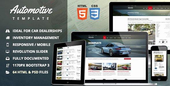 Auto Dealer Website Template Lovely 20 Auto Parts & Cars HTML Website Templates