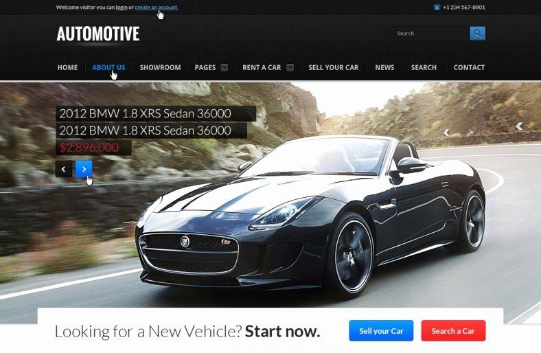 Auto Dealer Website Template Lovely 25 Car Dealer Website themes & Templates