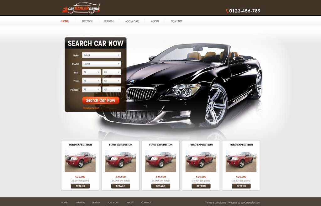 Auto Dealer Website Template Lovely Car Dealer Website Template