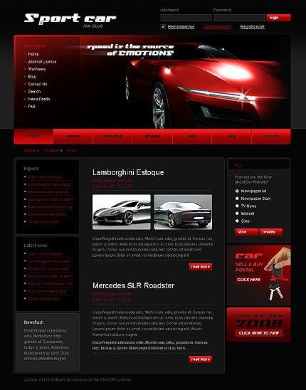 Auto Dealer Website Template Luxury Car Dealer Templates