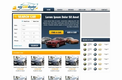 Auto Dealer Website Template Luxury Car Dealer Website Template