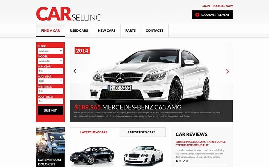 Auto Dealer Website Template Luxury Car Dealer Website Templates to Quickly Start Your Business