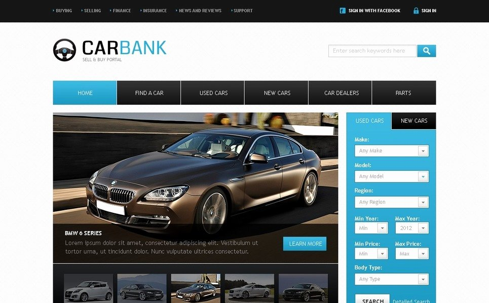 Auto Dealer Website Template New Car Dealer Website Template