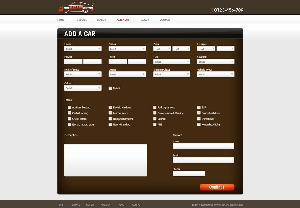 Auto Dealer Website Template New Car Dealer Website Template
