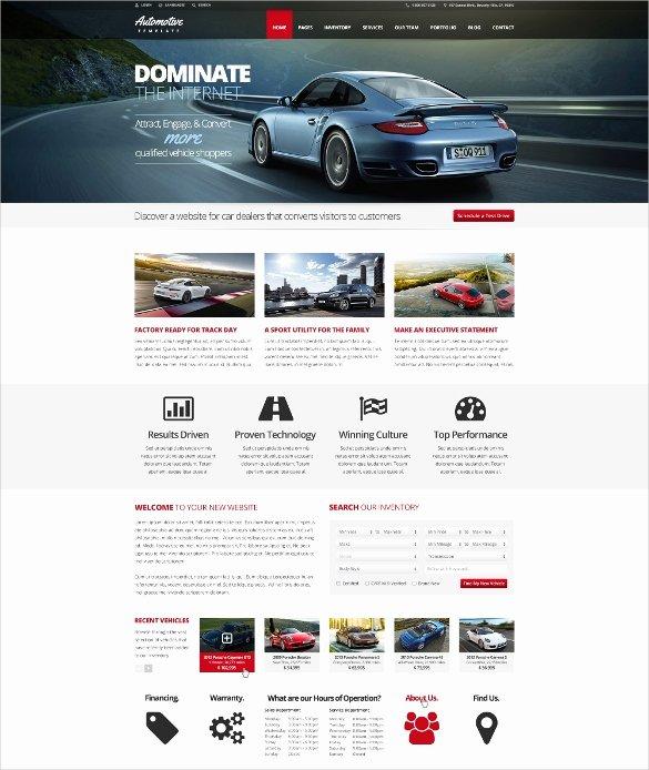 Auto Dealer Website Template Unique 28 Car Dealer Website themes & Templates