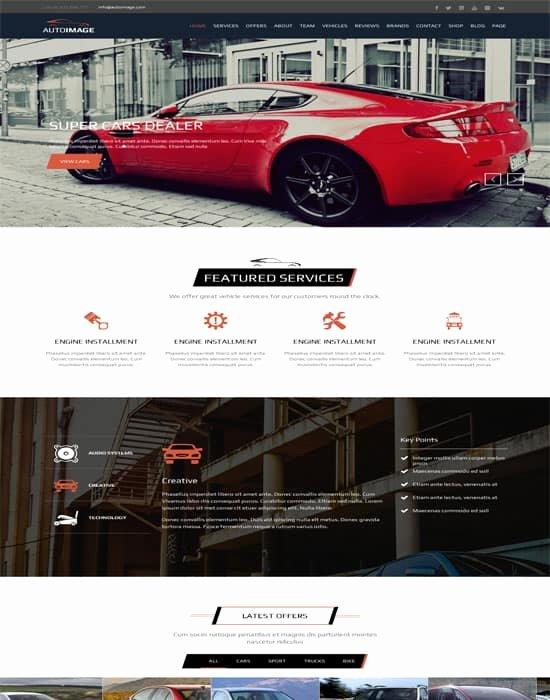 Auto Dealer Website Template Unique 60 Fantastic Automobile & Car Dealer Website Templates