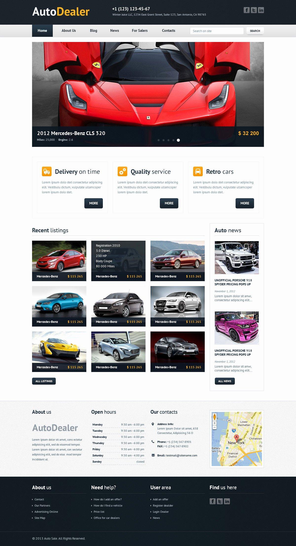 Auto Dealer Website Template Unique Auto Dealer Car Dealer HTML Template by Winterjuice