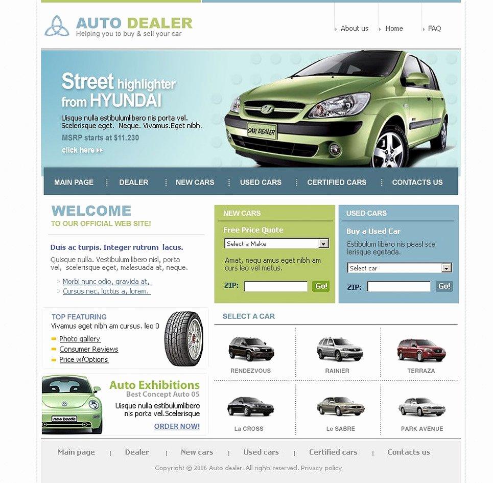 Auto Dealer Website Template Unique Car Dealer Website Template Web Design Templates