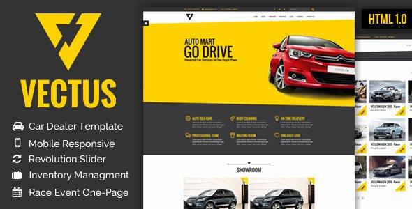 Auto Dealer Website Template Unique Vectus Car Dealership & Business HTML Template by