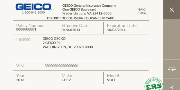 Auto Insurance Card Template Pdf Elegant Geico Mobile Screenshot Thumbnail