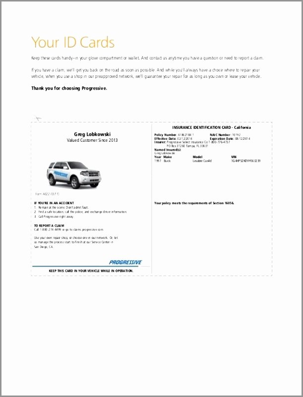 Auto Insurance Card Template Pdf Fresh Illinois Fake Insurance Card – Fill Line Printable