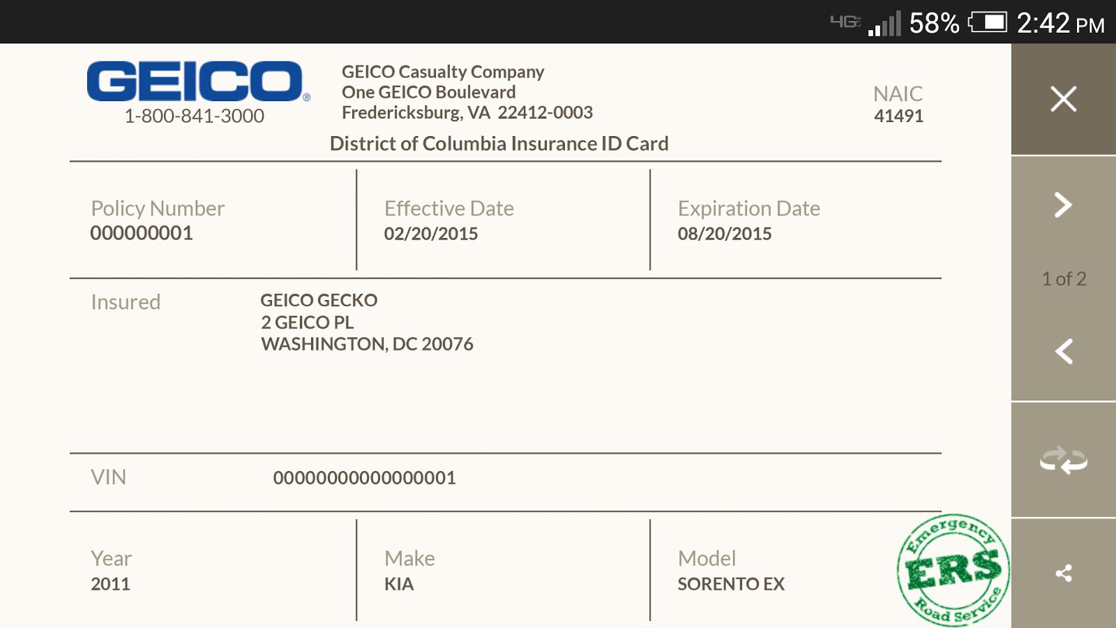 Auto Insurance Card Template Pdf Inspirational Multi Car Insurance Geico Temporary Car Insurance