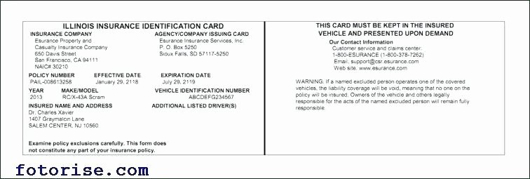 Auto Insurance Card Template Pdf Lovely Template Of Insurance Card 13 Precautions You Must Take