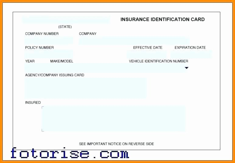 Auto Insurance Card Template Pdf Luxury Auto Insurance Card Template Progressive Id Cards Car Free