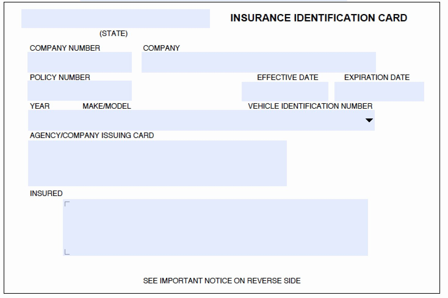 Auto Insurance Card Template Pdf New Download Auto Insurance Card Template Wikidownload