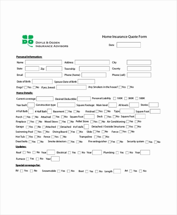 Auto Insurance Quote Sheet Template Beautiful 7 Quote Sheet Template Word Pdf