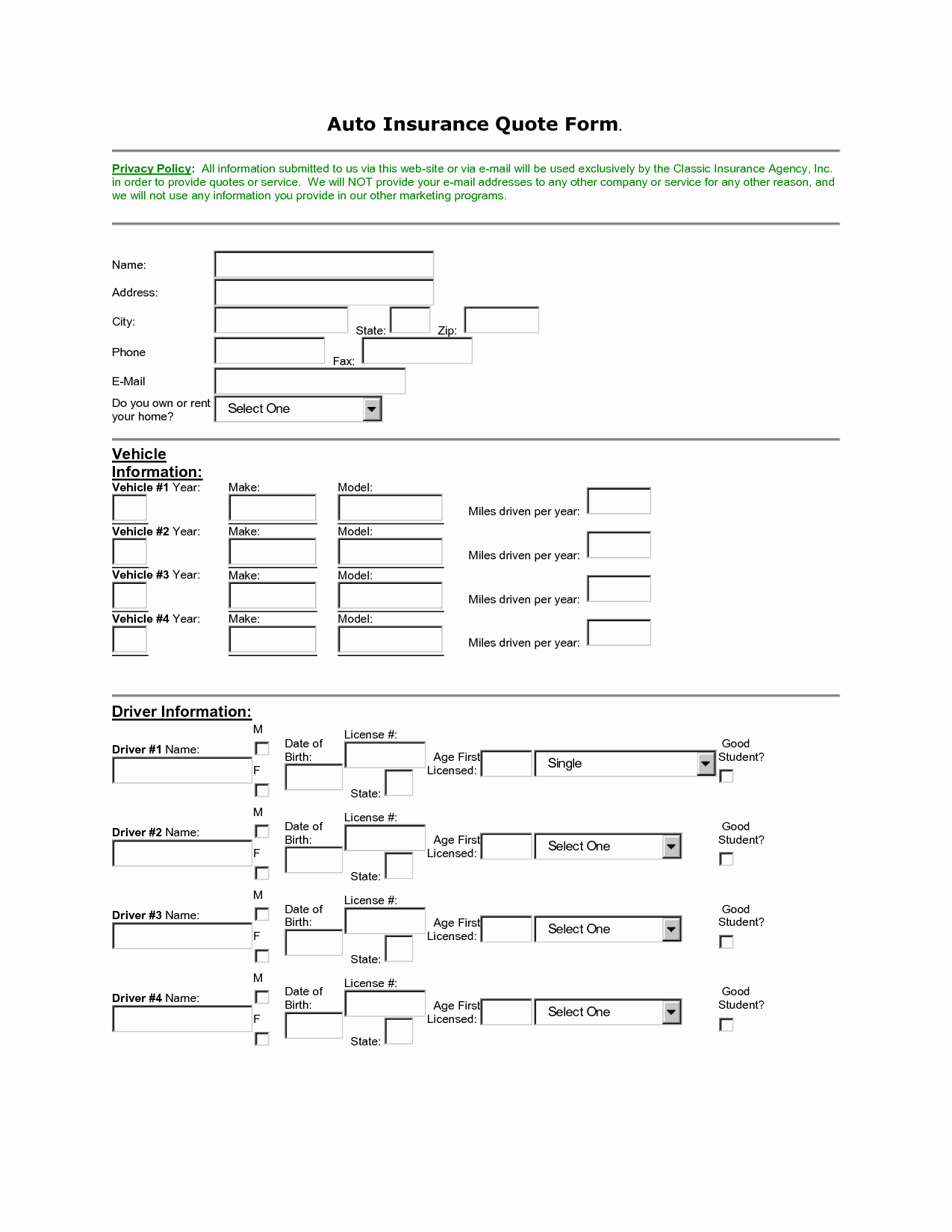 Auto Insurance Quote Sheet Template Best Of 14 Best Of Sample Excel Bud Worksheets Monthly
