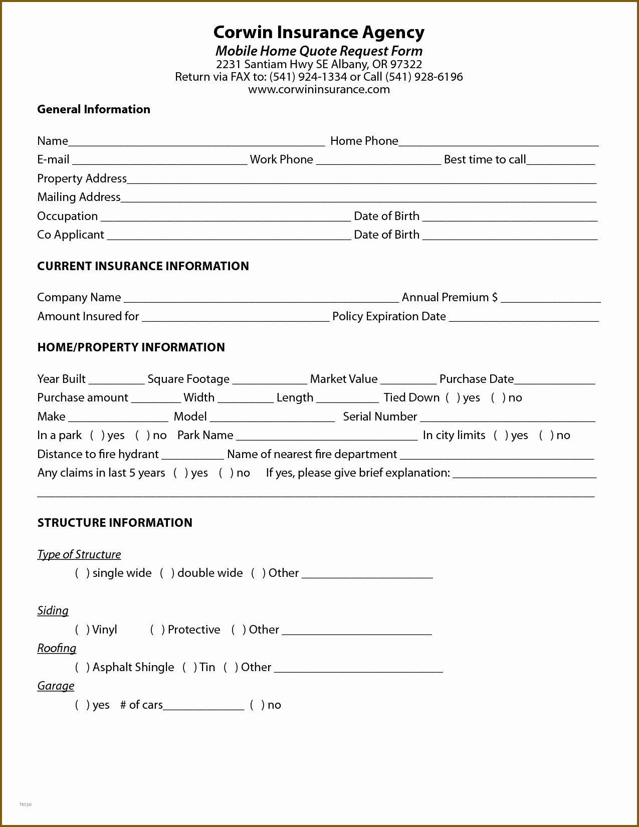Auto Insurance Quote Sheet Template Fresh Insurance Quote form Template 12 Features Insurance