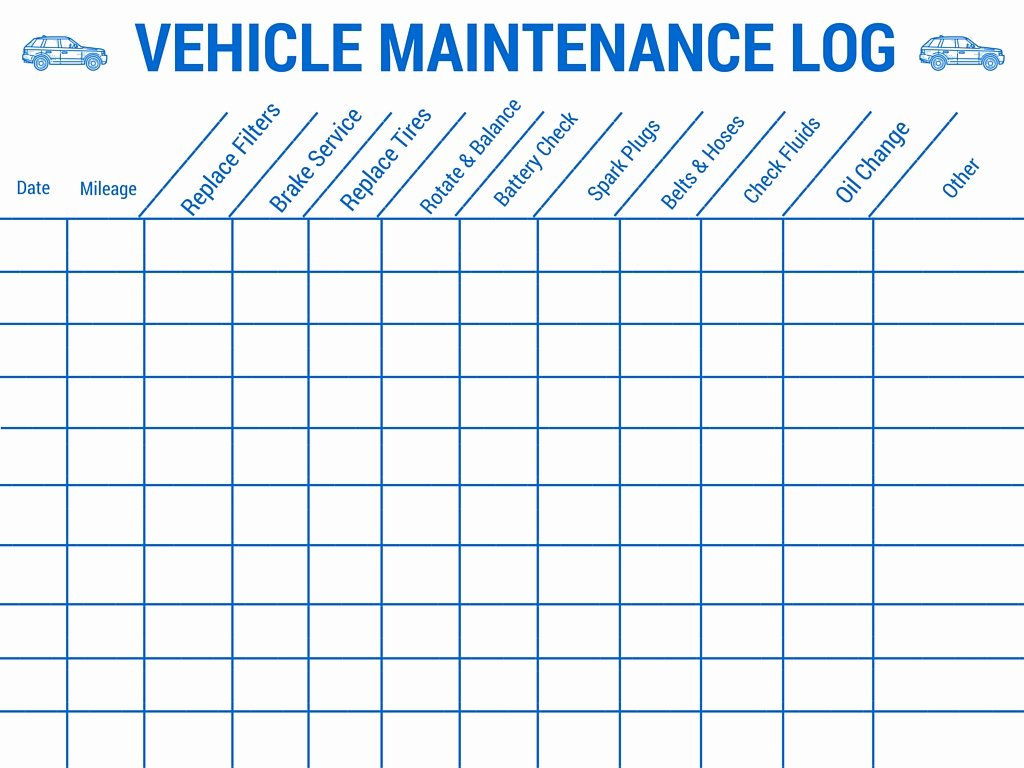 Auto Repair Checklist Template Unique Vehicle Maintenance Log