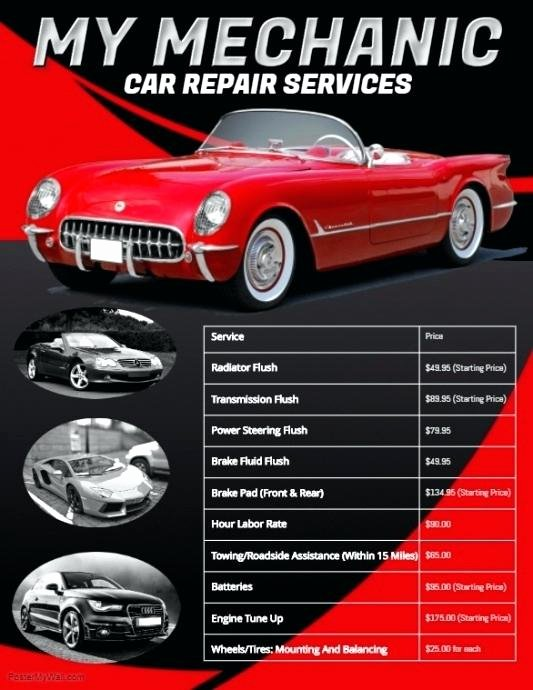 Auto Repair Estimate Template Excel Unique Car Repair Template Auto Repair Invoice Template Microsoft