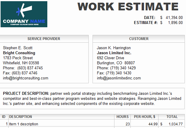 Auto Repair Estimate Template Free Best Of Estimate Template Driverlayer Search Engine
