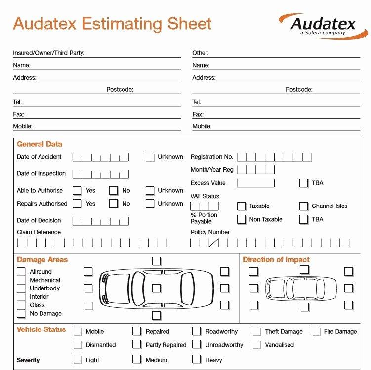 Auto Repair Estimate Template Free Luxury 9 Free Sample Auto Repair Quotation Templates Printable