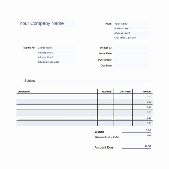 Auto Repair Invoice Template Awesome 12 Sample Auto Repair Invoice Templates to Download