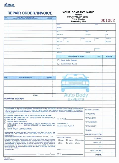 Auto Repair Invoice Template Word Beautiful Automotive Work order Template Word – Cassifields