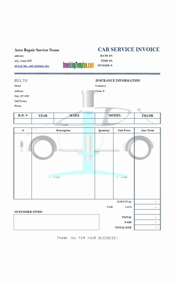 Auto Repair Invoice Template Word Inspirational Appliance Repair Service Bill Template