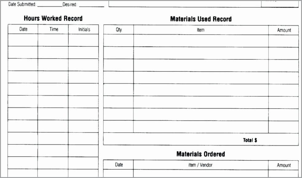 Auto Repair order Template Excel Elegant Auto Repair order Template Excel Mechanic Work order
